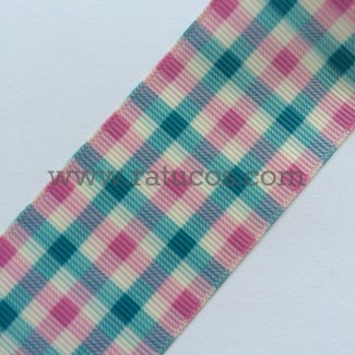 CINTA GROSGRAIN VICHY 38mm, COLORES