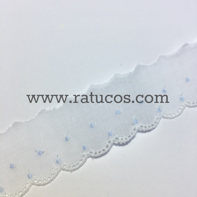 TIRA BORDADA 3 cm, COLORES SERIE BIBIANA