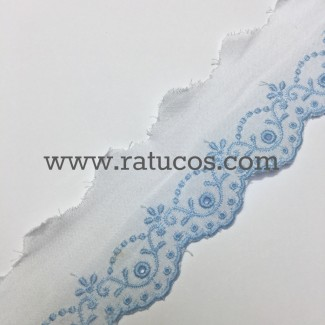 TIRA BORDADA 3.5 cm, COLORES, SERIE ILIANA