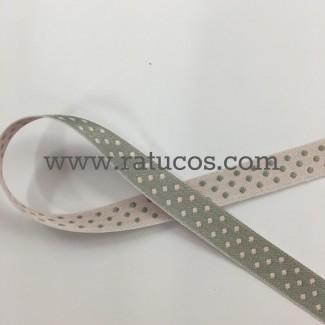 CINTA DOBLE CARA TOPOS 1 cm, COLORES