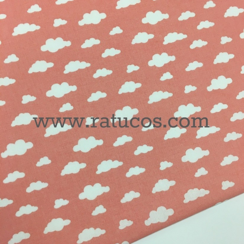 POPELIN NUBES CORAL