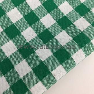 Tela de cuadro vichy grande, color verde andalucía