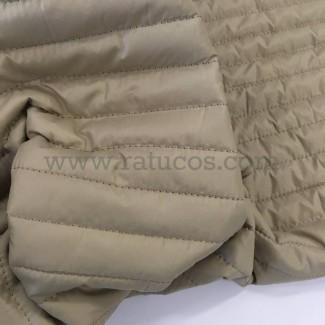 CASACO ACOLCHOADO LISTRAS 2.5 cm. BEGE