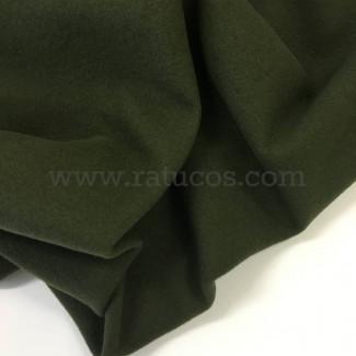 Tela de abrigo, paño sintético, color verde kaki/caza