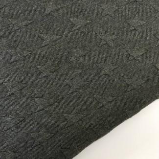 Tela de punto de sudadera de ancho 150 cm. Estrellas en relieve