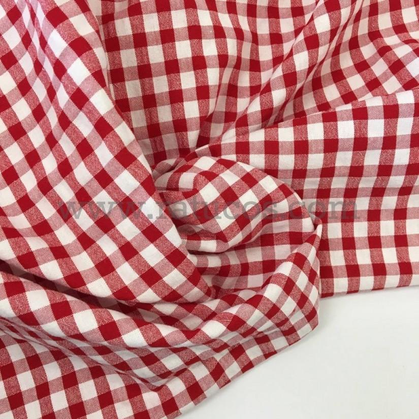 Rojo Seersucker a Cuadros Mantel 100/% Algodón