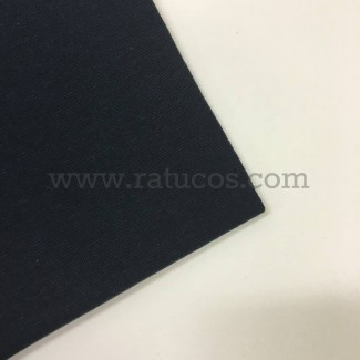Tela de punto para puños y cinturas, color marino, 95% Algodón y 5% Elastán