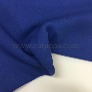 Tela de punto para puños y cinturas, color azul royal, 95% Algodón y 5% Elastán