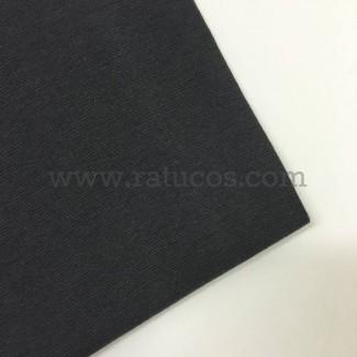 Tela de punto para puños y cinturas, color gris antracita, 95% Algodón y 5% Elastán