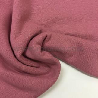 Tela de punto para puños y cinturas, color rosa smoke, 95% Algodón y 5% Elastán