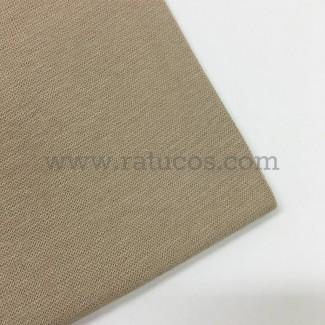 Tela de punto para puños y cinturas, color beige, 95% Algodón y 5% Elastán
