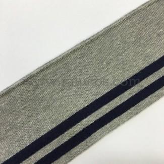 Tela de punto tubular para puños y cinturillas
