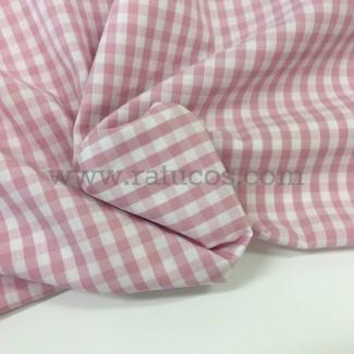 Tela cuadro vichy pequeño. Tela de 100% algodón y ancho 150 cm.