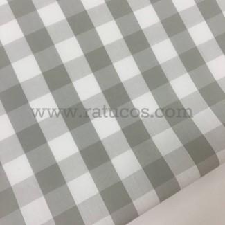 Tela cuadro vichy de 1.5 cm. Tela de 100% algodón y ancho 150 cm.
