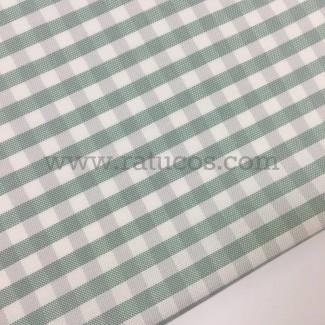 Tela de vichy tipo oxford. Tela de ancho 160 cm y composición 100% algodón