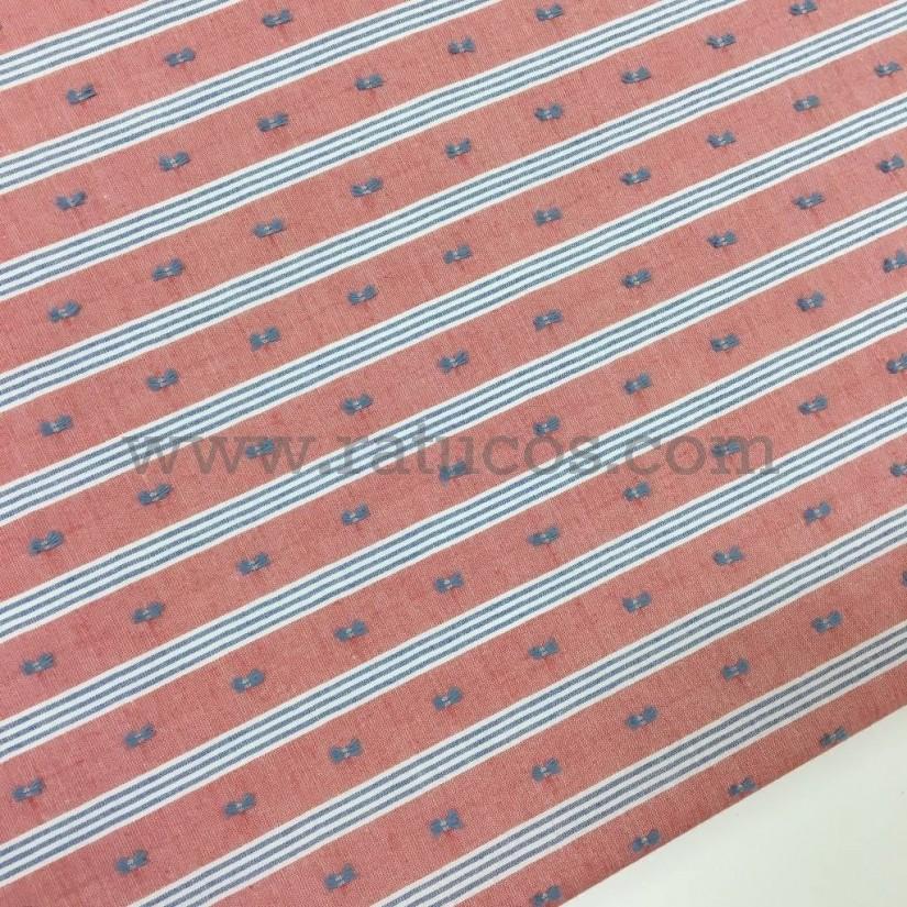 Tela plumeti batista con rayas. Tela de ancho 150 cm y composición 100% algodón