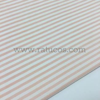 Tela de popelín con rayas. Tela de ancho 150 y composición 99% Algodón y 1% Elastán