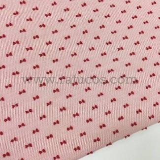 Tela de rayas finas con plumeti. Tela de ancho 150 cm y composición 100% algodón