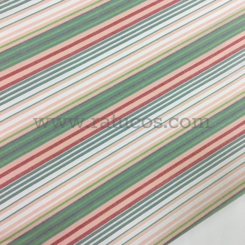 Tela de popelín con rayas tejidas. Tela de ancho 150 cm