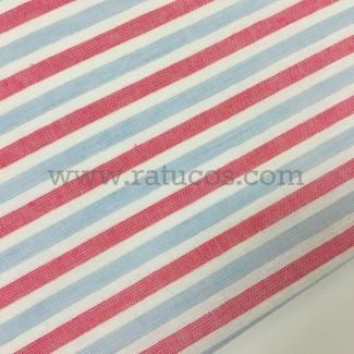 Tela de rayas horizontales. Tela de ancho 150 cm