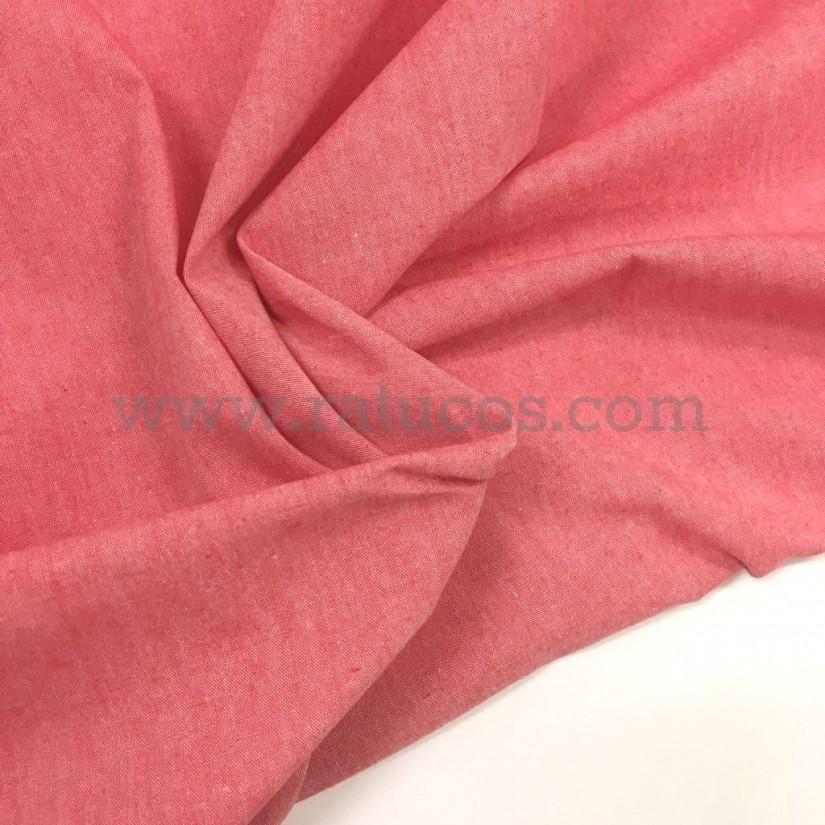 Tela Oxford en color rosa granado. Tela de ancho 150 cm