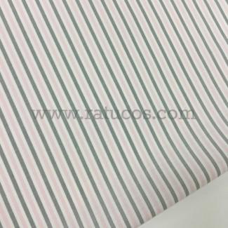 Tela de batista con rayas verticales