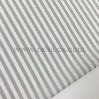 Tela de popelín de rayas verticales