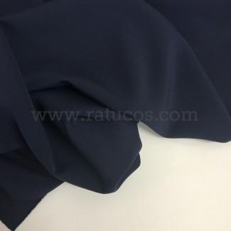 Tela de crepé con elastán en color azul marino