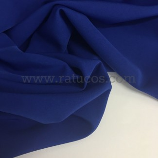 Tela de crepé con elastán en color azul royal