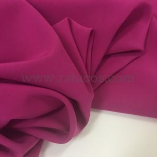 Tela de crepé con elastán en color Bunganvilla