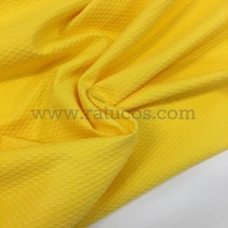 Tela de piqué amarillo