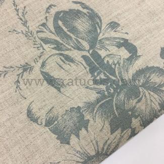Tela de composición lino y algodón