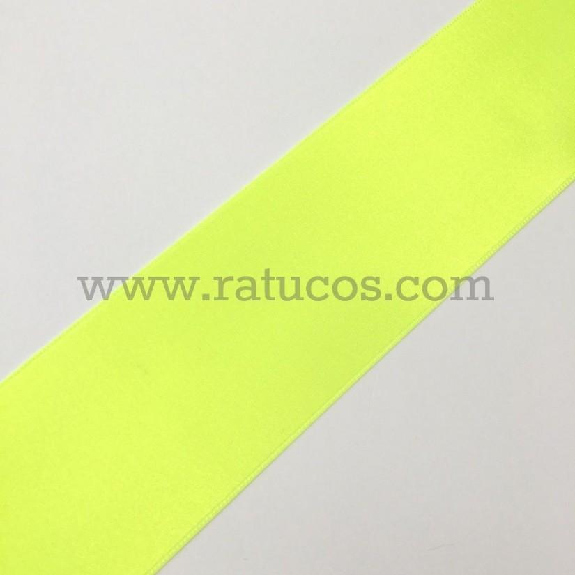 Cinta de raso de 4.8 cm en colores flúor