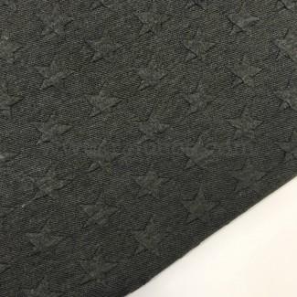 Tela de punto de sudadera con estrellas en relieve