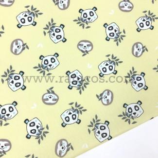 Tela de popelín de ancho 150 cm y composición 100% algodón. Tela con Certifcado Oeko-Tex®