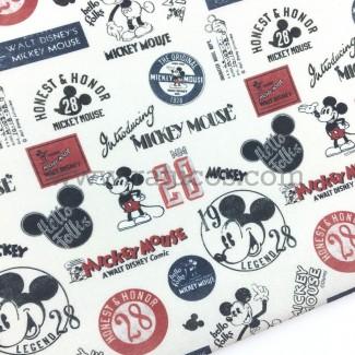 Tela con estampado de licencia Disney. Tela con certificado Oeko-Tex®