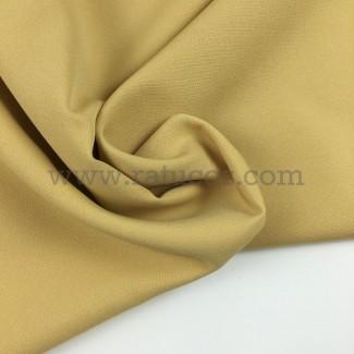 Tela de crepé con elastán en color mostaza claro