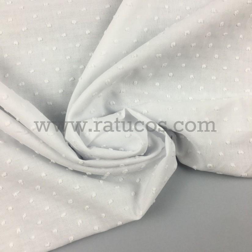 Tela de plumeti de ancho 145 cm y composición 100% algodón. Tela con certificado Oeko-Tex®