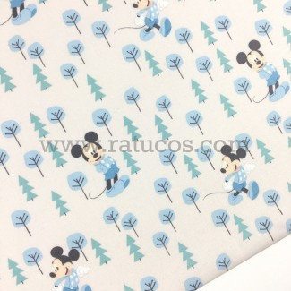 TECIDO PATCHWORK MICKEY MOUSE IN THE FOREST