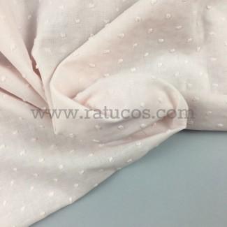 Tela de plumeti Rosa Bebé. Tela de ancho 145 cm y certificado Oeko-Tex®