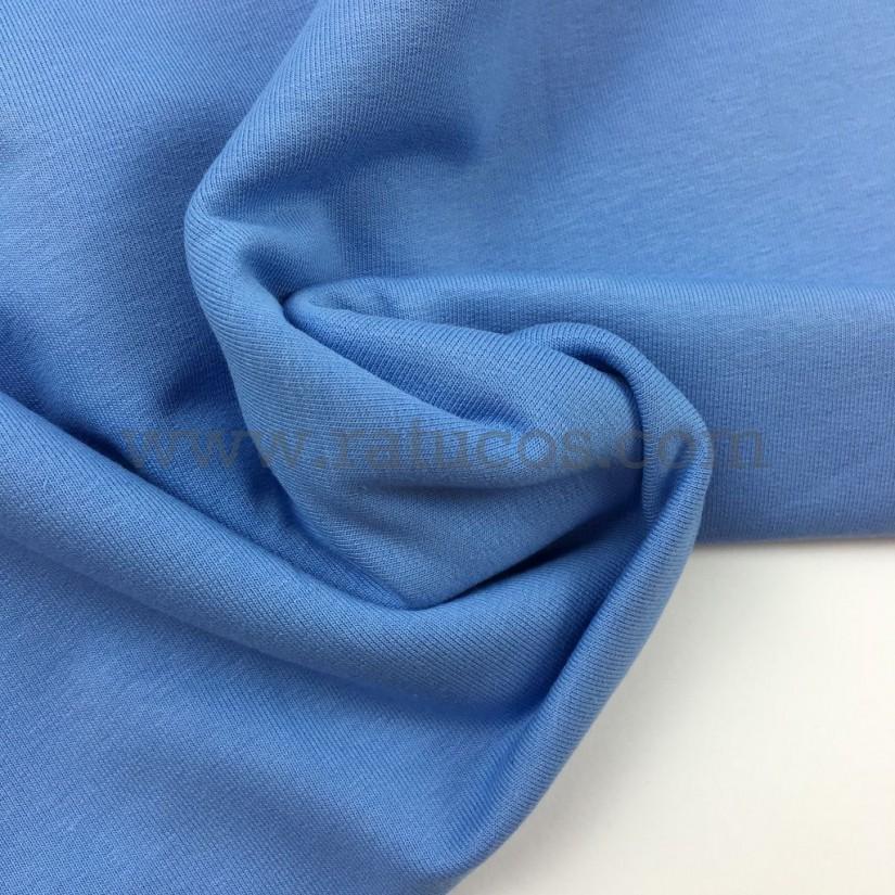 Tela De Punto French Terry Azul