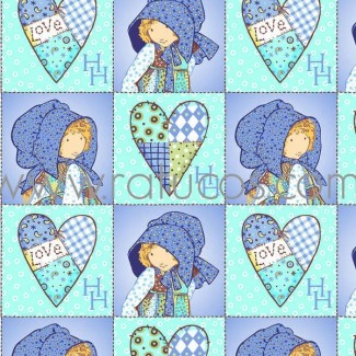 HOLLY HOBBIE CUADROS PATCH