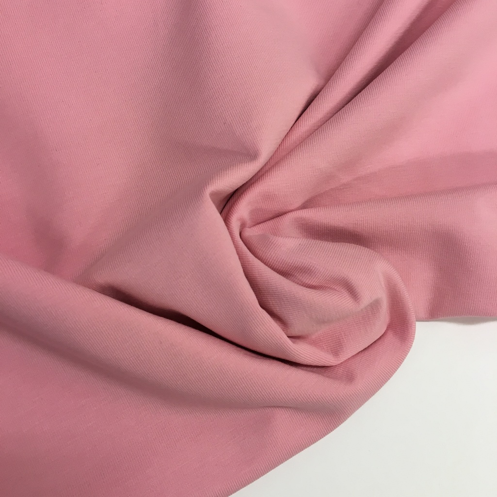 Tela de punto de camiseta en color rosa