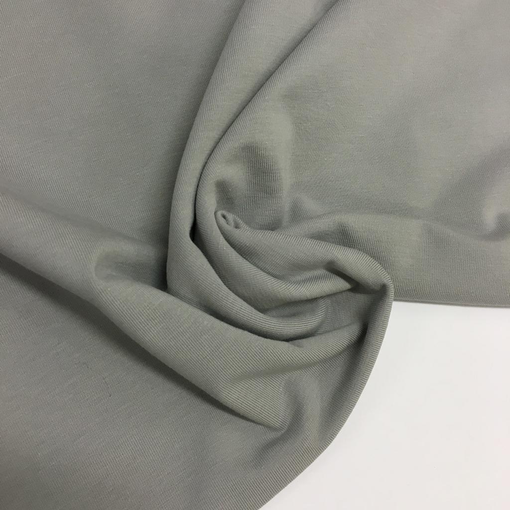 Tela de punto de camiseta en color gris