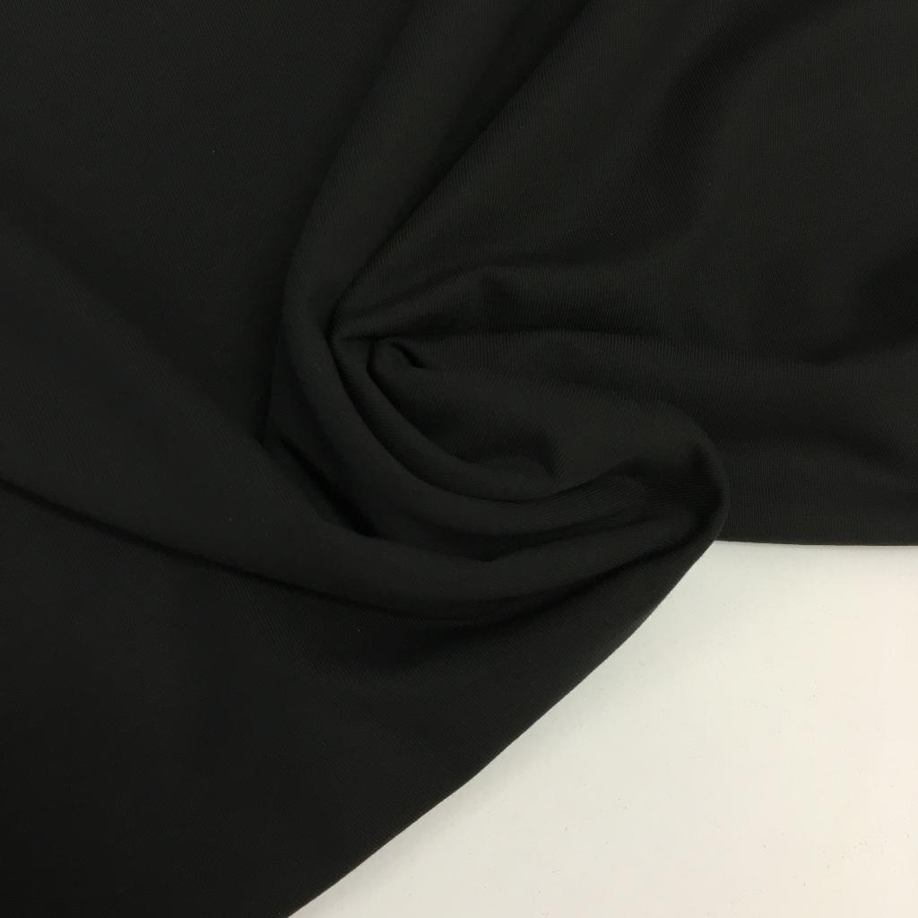 Tela de punto de camiseta en color negro