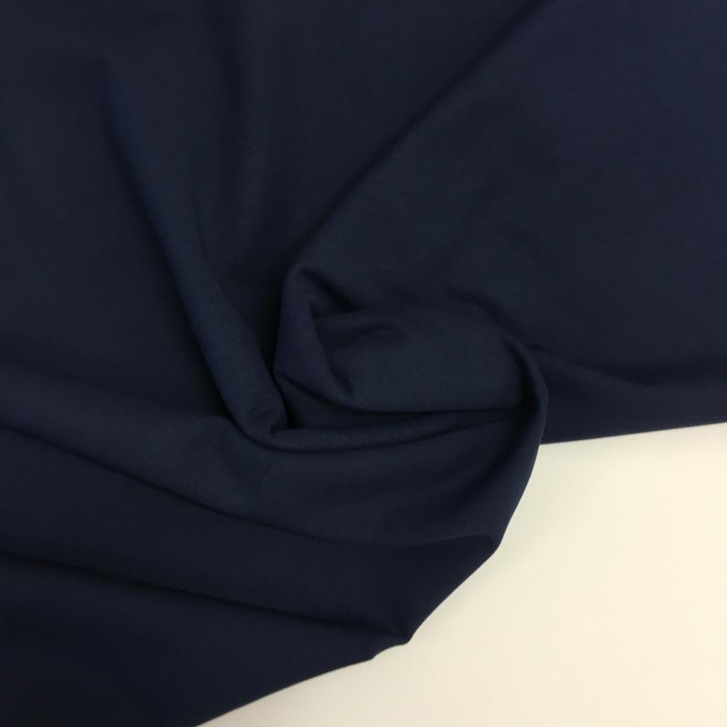 Tela de punto de camiseta en color azul marino claro