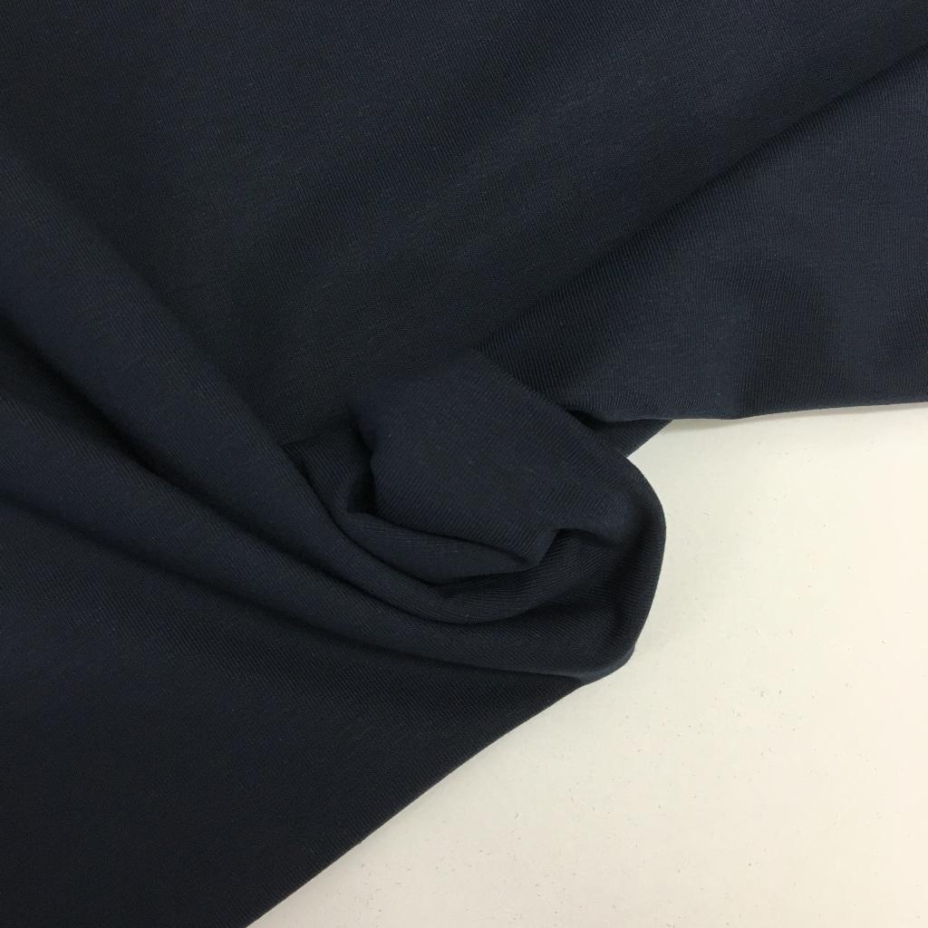 Tela de punto de camiseta en color azul marino oscuro