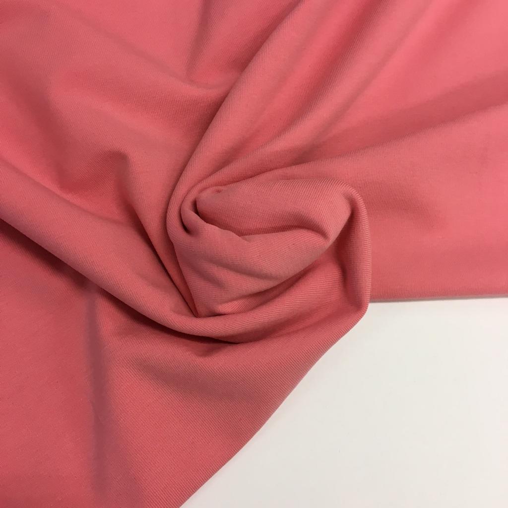 Tela de punto de camiseta en color cereza