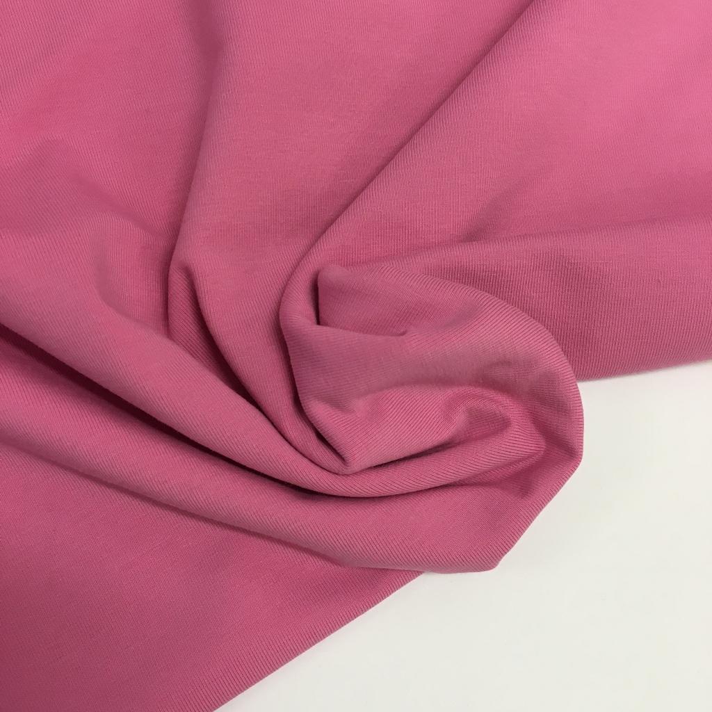 Tela de punto de camiseta en color rosa francés