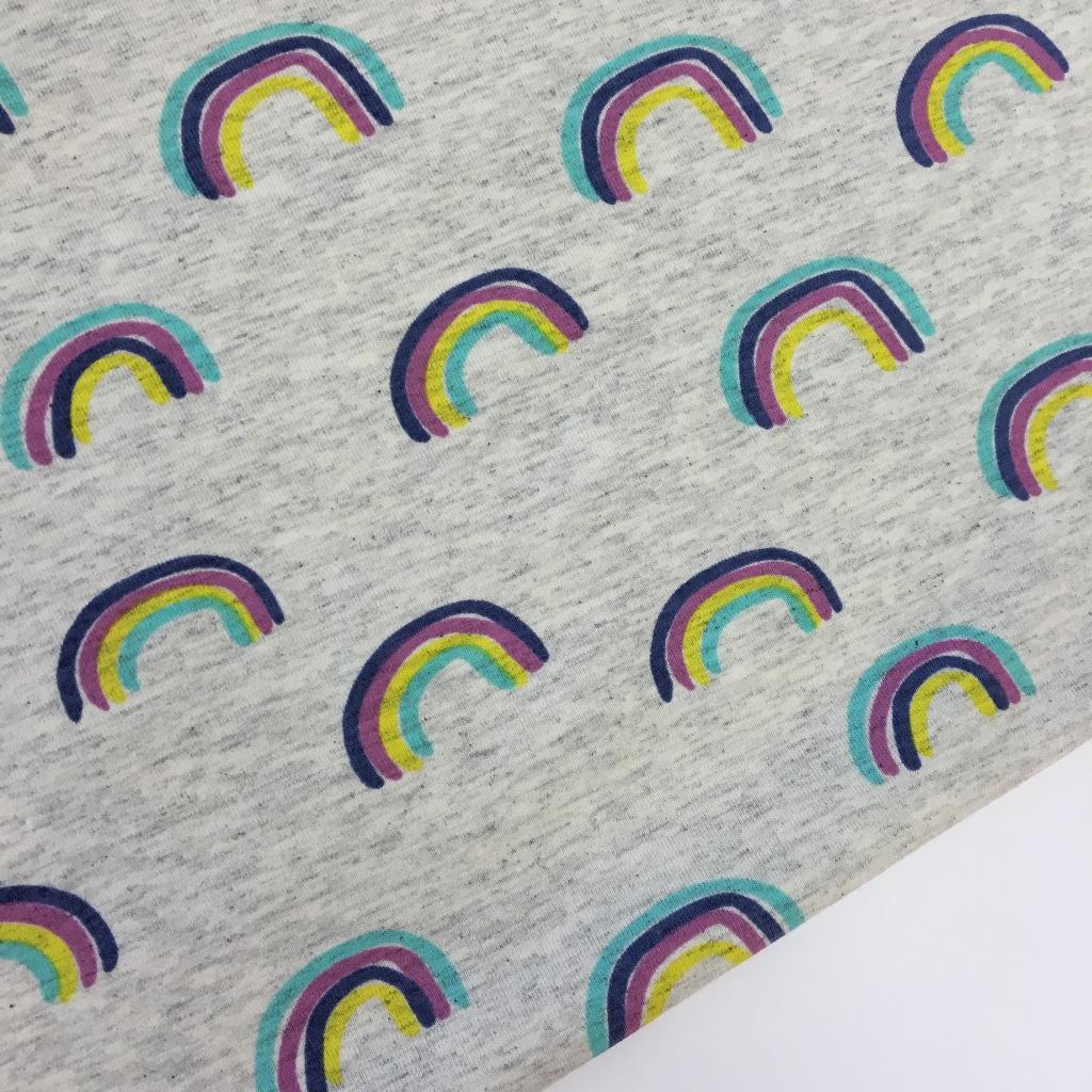Tela de punto de camiseta, colección Arcoiris. Disponible en tres colores.